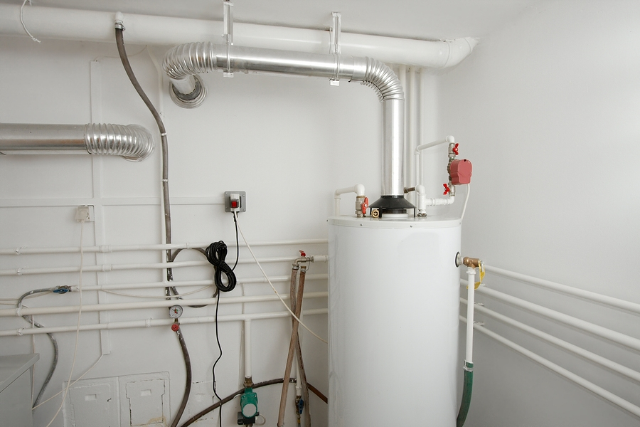 Boiler and pipes of the heating system of a house