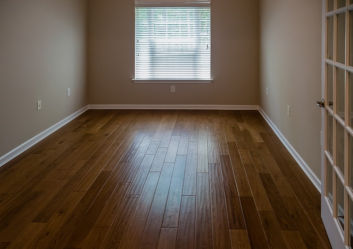 A New Hardwood floor in new home